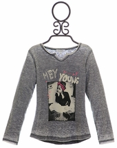 3 Pommes Girls Graphic Shirt Rock n Roll