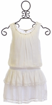 3 Pommes Girls White Tunic