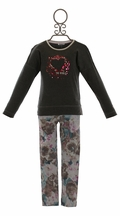 3 Pommes Heart Tee and Pants in Grey (4,5,12)