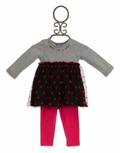3 Pommes Infant Dress with Polka Dots and Pant