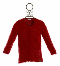 3 Pommes Little Girls Sweater in Red (5,6,8,10)