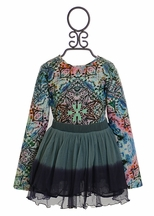 3 Pommes Mod Top with Blue Tutu Skirt
