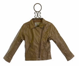3 Pommes Moto Jacket Metallic Brown