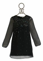 3 Pommes Navy Dress with Sequins (8,10,12)