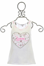3 Pommes Tank Top with Beaded Heart (5/6,9/10,11/12)