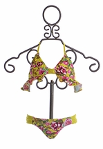 9's Ruffled Halter Top Bikini for Girls (Size 14)