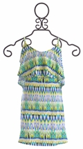9's Tween Sundress in Tribal Print Blue (7 & 10)