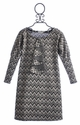 A Bird Fall Tween Dress in Marni Chevron