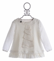 A Bird Mini Cream Tunic for Little Girls