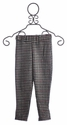 A Bird Vintage Black Check Girls Audrey Pant