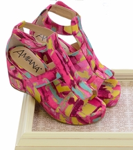 Amiana Bright Wedges for Girls