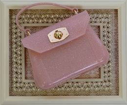 Amiana Girls Purse in Light Pink Sparkle