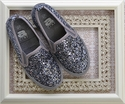 Amiana Glitter Shoes in Pewter Sequins