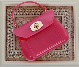 Amiana Jelly Purse for Girls in Fuchsia
