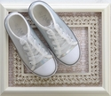 Amiana Mirror Sneaker in Silver