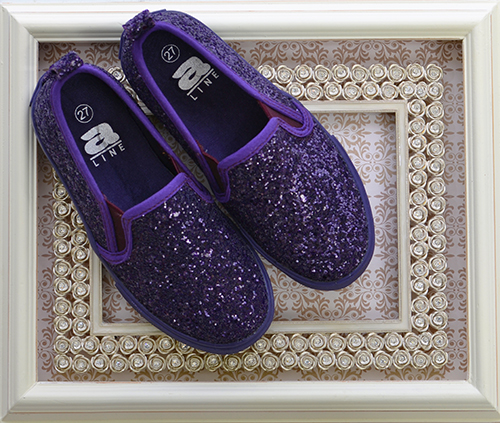 Amiana Purple Glitter Shoes 8 1 2 10 1 2