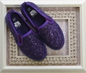 Amiana Purple Glitter Shoes