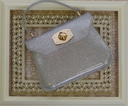 Amiana Purse for Little Girls in Silver