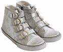Amiana Shoes Silver High Top Sneakers for Girls