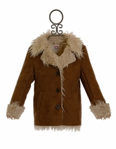 Appaman Shearling Coat for Girls in Brown