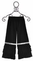 Arabella Rose Double Ruffle Pants for Girls in Black