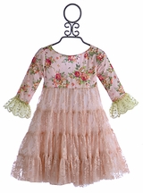 Arabella Rose Girls Pink Party Dress Bristol Anne (6T & 7)