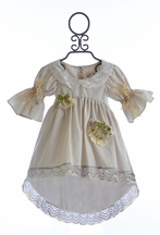 Arabella Rose Girls Vintage Top with Lace (Size 2T)