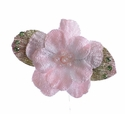 Ashley Anne Light Pink Velvet Petals Girls Hair Clip