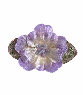 Ashley Anne Velvet Petals Purple Girls Hair Clip