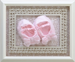 Baby Biscotti Baby Booties in Pink