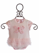 Baby Biscotti Baby Onesie for Girls with Ruffle Skirt (Newborn & 9Mos)