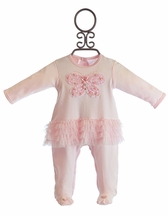 Baby Biscotti Butterfly Baby Romper in Pink