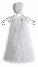 Baby Biscotti Christening Gown with Bonnet (Size 3-9 Mos)