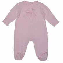 Baby Biscotti Flower Fantasy Footie in Pink