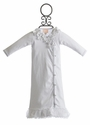 Baby Biscotti Hide and Seek White Newborn Gown