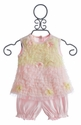 Baby Biscotti Infant Dress in Pink and Yellow