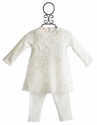 Baby Biscotti Ivory Ruffles and Roses Infant Dress