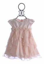 Baby Biscotti Pink Infant Birthday Girl Dress (Size 12 Mos)