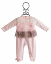 Baby Biscotti Ruffled Infant Romper Neopolitan Treat