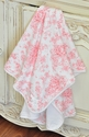 Baby Biscotti Victorian Rose Baby Blanket for Girls