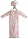 Baby Biscotti Victorian Rose Newborn Take Home Gown and Hat