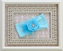 Baby Bling Bright Aqua Headband with Rosette