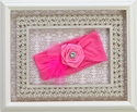 Baby Bling Girls Rosette Headband in Pink