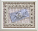 Baby Bling Grey Rosette Headband for Girls