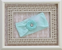 Baby Bling Mint Rosette Headband