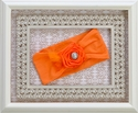 Baby Bling Orange Flower Headband with Bling