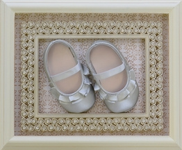 Baby Deer Infant Girls Shoes in Silver