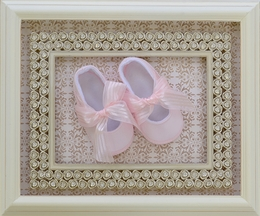 Baby Deer Newborn Girls Shoes in Pink