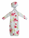 Baby Nay English Garden Infant Gown and Hat