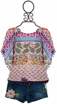 Baby Sara Boho Top and Denim Shorts